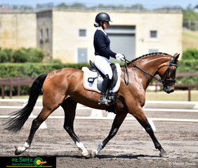 Looking picture perfect in the dressage on the third day of NSW Interschool Championships is Armani Makaj and Penton Mandala.
