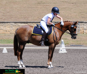 Well deserved winners of both tests in the Secondary Intermediate Preliminary class is Grade 8 Scone Grammar School student Emmersen Mitchell and Double TT Debonair competing at the NSW Interschool State Championships.