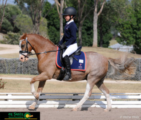 Charlton Christian College student Amelia Razon and Nawarrah Park Caraway competed in the Secondary Intermediate Novice class at the NSW Interschool State Championships, where they completed a very beautiful first test in the Novice 2B.