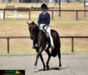 Representing New England Girls School in the Secondary Show Horse is Charlotte Jacobson riding gelding, Iona Park Freedom.