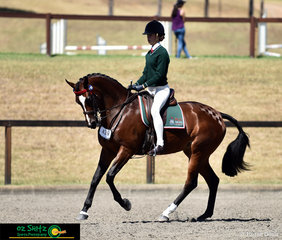 Bronte Dagg and Ebl Lust Y compete together in the Secondary Show Horse on the final day of the NSW Interschool State Championships.
