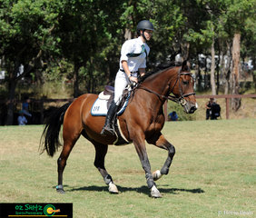 From the Hunter Valley, Emily Kent rides Campione GNZ around the Show Jumping course in a competitive Secondary 90cm class.
