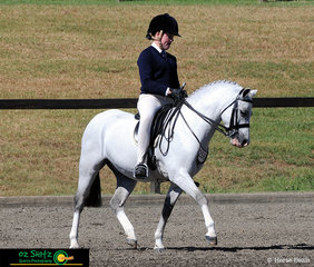 From Oran Park Anglican College and riding in the Primary Show Hunter at the NSW Interschool State Championships is Ella Fin and Eagle Park Ceaser.