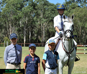 A big congratulations to the winner of the Secondary 1.2m Two Phase, Anneliese Wansey on her horse Blurred Lines from Oxley College.
