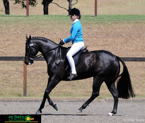 Showing off their ability in the Working Hunter Secondary was Year 8 student Ella Bourke riding MP Too Eze at the NSW Interschool State Championships from St Josephs East in Gosford. .