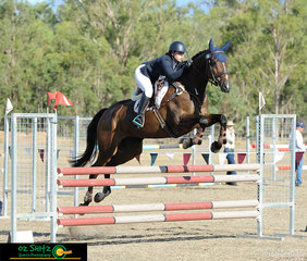 With eyes set on the finish line, Lyla Sampson navigates Cassilis Park Figaro around the One Star show jumping track with ease.