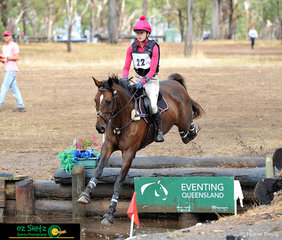 With confidence Johanna Mcgrath takes her ride, Cera Conquest through the Black Toyota CCN1* water combination.