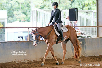 Hollie Hicks & Rosies Artful Breeze had much success in the youth classes over the two days of showing.