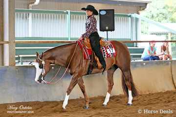 Sunday's Youth 13 to 17 Years Hunter Under Saddle competitors, Sara Feeney & Hypnotize.