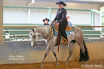 Junior Horse Western Pleasure competitors, GJC Huntin For An Angel & Anne Edwards.