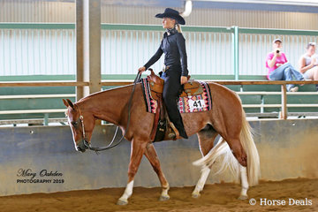 Some Will Some Wont & Kasey Wyse contesting Sunday's Youth 13 to 17 Years Western pleasure
