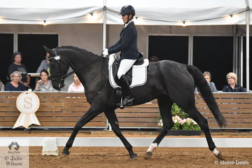 Vanessa Griffiths rode her Mayfield Three Wishes in the 4 year old young horse class.  The horses that did not make the top ten have the option of a consolation class tomorrow.