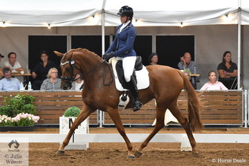 Madison Halford rode her beautiful Mystic Park Chanel in the 4 year old young horse class.
