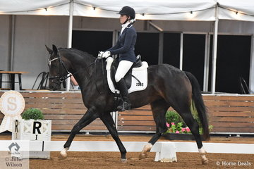 Hayley Rumbold from SA rode her Revelwood Faith in the 4 year old young horse class.