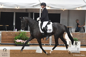 Jason James rode Michelle Williams, Total Zensation in the 4 year old young horse class.