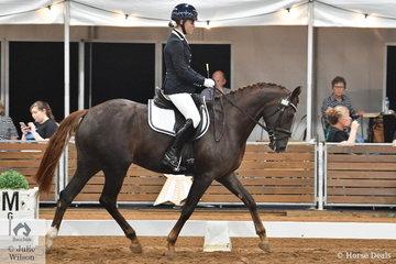 Natasha Moody rode Marina Stevens' over grown Riding Pony, Penmain Prada in the 4 year old young horse class.