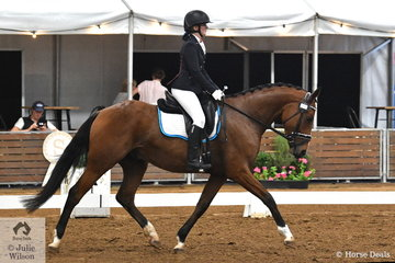 Phillippa Rushford rode her Worldwide Superstar in the 4 year old young horse class.