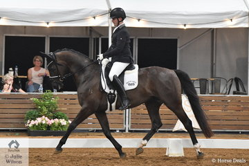 Jack Palfrayman rode Dannielle Martin's, Ellenbrae Jupiter in the 4 year old young horse round one.