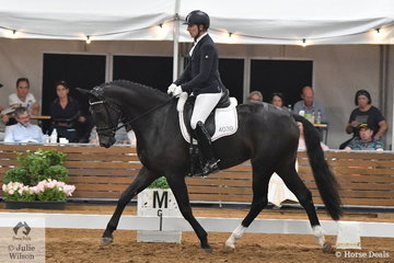 Lizzy Wilson-Fellows rode Brooke Cvetkovic's, Tailormade Temptress in the 4 year old young horse round one.
