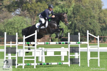 Paul Brent jumped a nice clear round aboard Neil Clinton's imported stallion, Fontaine Blue VDL in the Rivenlee Current Star class.