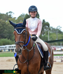 Winner of the Oz Shotz Photography 1.40m AM5 round was Quintago 1 ridden by Brooke Langbecker.