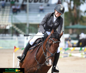 With a smile ear to ear, Nicole Murphy was incredibly happy with how Jag Em Amablique her 7 year old warmblood x stock horse.