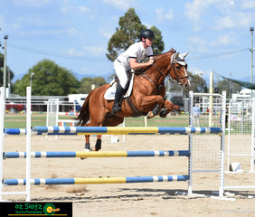 Cameron Moffat and Bellhaven Secret were a strong duo in the Young Rider Championship on the final day of the 2019 Warwick Show.