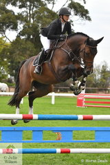 Well known Australian and international rider, Brooke Campbell rode the Van Eyk Horses' nomination, 'Just Friends VEH' to  third place in the Four Year Old Young Jumping Horse Championship.