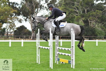 Successful Victorian professional rider, Paul Brent rode  Neil Clinton's, 'Cavalli Park Ciara' by Cardento out of a Zirocco Blue  VDL mare to take fourth place in the Four Year Old Young Jumping Horse Championship.