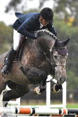 Olympian, Jamie Coman rode Tim and Ingrid Clarke's, 'Camancho' by Balou Du Rouet out of the Clarke's very successful mare, Caltango to take second place in the Five Year Old Young Jumping Horse Championship.
