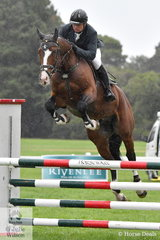 Successful international jumping rider, Jamie Kermond rode Seumas and Danni Marwood's talented stallion, 'Wild Kard' by Kannan out of Seumas' super, Wild Oats to claim the Five Year Old Young Jumping Horse Championship.