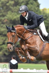 Brook Dobbin rode the Mount View Sport Horses', 'Mirandal MVNZ (Carrado MVNZ/Cassini II) to  fourth place in the Seven Year Old Young Jumping Horse Championship.