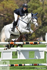 Frida Lindgren rode the Lever and Gronn mare, 'Ashleigh City Lights' (Caracas/Ashleigh Brigadier) to take third place in the Seven Year Old Young Jumping Horse Championship.