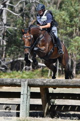 International eventing rider, David Middleton is pictured aboard his, 'WEC In The Money' during the cross country phase of the the Heritage Holden Lilydale CCI2*.