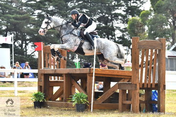 Bianca Sigismundi and 'Royal Chanel' are pictured on their way to ninth place in the International Animal Health CCI3*.