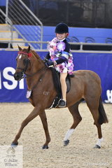 Charli Sabine from Pukekohe in New Zealand out rode the field to claim the Westgrove Racing P/L Grand National Rider 6 AU 9 Years Championship at the 2019 Hufglocken Grand National Saddle Horse and Rider Championships.