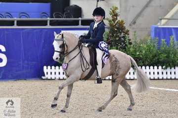 Ashleigh Overall from Humpty Doo in the NT rode well to take fourth place in the Rider 6 AU 9 Years Championship at the 2019 Hufglocken Grand National Saddle Horse and Rider Championships.