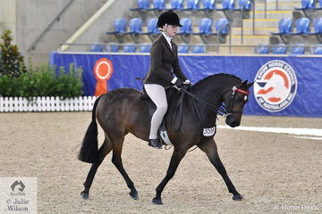 Daizi Plumb rode, 'DP Lady Di' to take out the Reserve award and the Owner /Rider award in the Langtree Stud Child's Small Saddle Pony Championship.