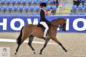 Representing Queensland, Megan Plucknett rode the Plucknett Family and Natacha Otto nomination, 'Whitmere Royal Consort' to third place in the Langtree Stud Child's Small Saddle Pony Championship.
