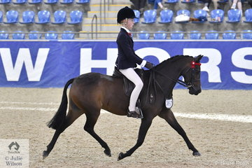 Millicent Quigley-Smith rode her, 'Harrington Park Panache' to fourth place in the Langtree Stud Child's Small Pony Championship at the 2019 Hufglocken Grand National Saddle Horse and Rider Championships.