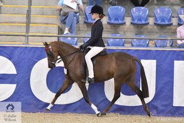Alyssa Walsh rode her , 'Drumeden Chanel' to make Langtree Stud Child's Small Pony Championship Top Ten.