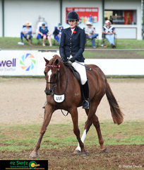 Kate Irwin and Turn Up The Heat had a great workout in the Large Novice Hack Class at the Toowoomba Royal Show.