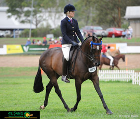 Working out in the Champion Ridden Show Hack was Kensington Tuscan Diamond ridden by Jo Uppington at the 2019 Toowoomba Royal Show.