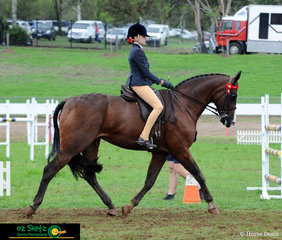 On the final day of the 2019 Toowoomba Royal Show, Kimberly Webb competes in the Champion Senior Girl Rider Class.