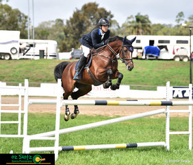 Chris Holland and Elsa compete in the 1.30m Young Rider Championship at the 2019 Toowoomba Royal Show.