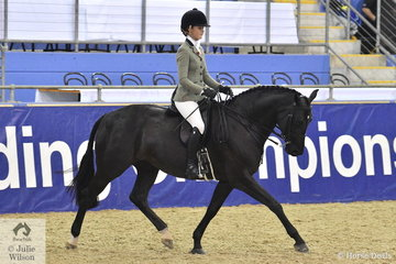 Ebonie Lee, the youngest of the successful Lee girls rode her , 'Zena PPH' to fourth place in the Walfam Investments Small Show Hunter Hack Championship.