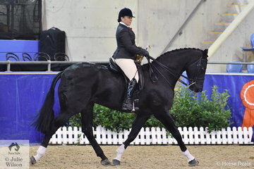 Abbey Lovell from Thornlands in Queensland rode her wonderful, 'Dicavalli Royal Rory' to make Top Ten in the Walfam Investments Small Show Hunter Hack Championship.