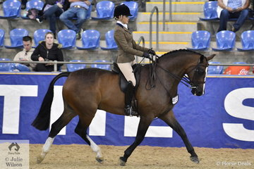 Grace Tyson rode Isabella Tyson's well performed, 'Freemantle' claimed the Walfam Investments Small Show Hunter Hack Reserve Championship and later on was declared the Grand Champion Childs Ridden Show Hunter.
