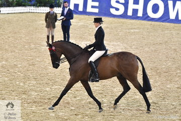 New Zealand owner, Leesa Anderson from Tirau put Ali Berwick on her, 'Revelry RP' that made Top Ten in the Romsey Park Grand National Large Hack Championship.