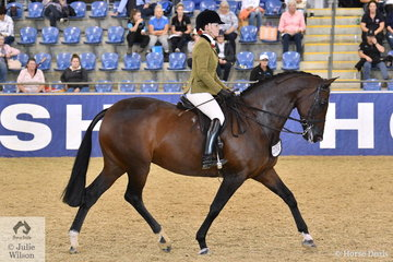 Charlie Hunt from Adelaide rode her own and Julie Payne's nomination, 'Roxleigh Frederica' to take fourth place in the strong Sydney Solvents Grand National Large Show Hunter Championship.